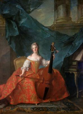 Жан-Марк Натье. Анриетта Французская (1727-1752), известная как Мадам Анриетта. 1754