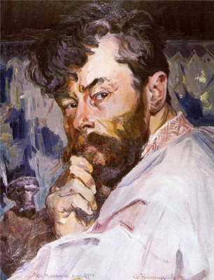 Alexey (Oleksa) Novakovsky. Self portrait with brush