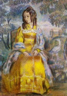 Victor Elpidiforovich Borisov-Musatov. The lady at the tapestry. Portrait Of N. Yu.Stanyukovich
