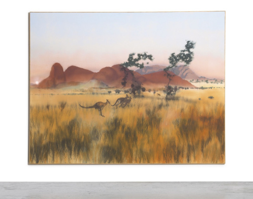 Michael Andrews. Evening near Malu Kata, Kata Tjuta (mount Olga)