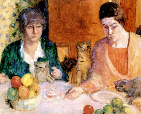 Pierre Bonnard. Lunch with cats