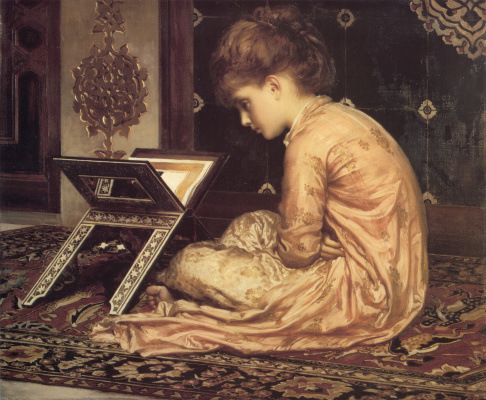 Frederic Leighton. Study at the reading table