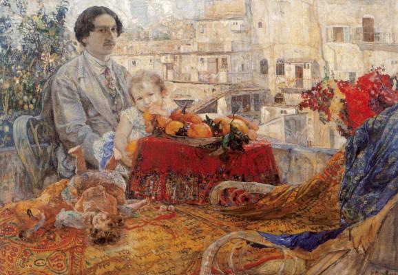 Исаак Израилевич Бродский. Автопортрет с дочерью