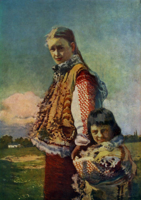 Ivan Ivanovich Trush. Gutsulka with a child