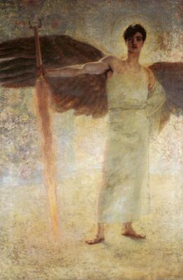 Франц фон Штук. Ангел с огненным мечом