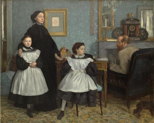 Edgar Degas. Portrait of the Bellelli family