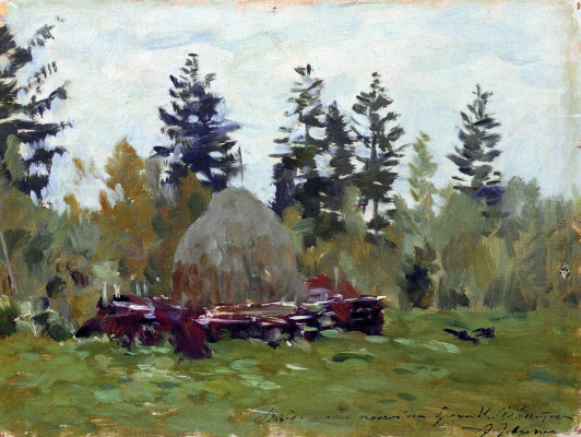 "Isaac Levitan. Stack. Study for the painting ""Late autumn"""