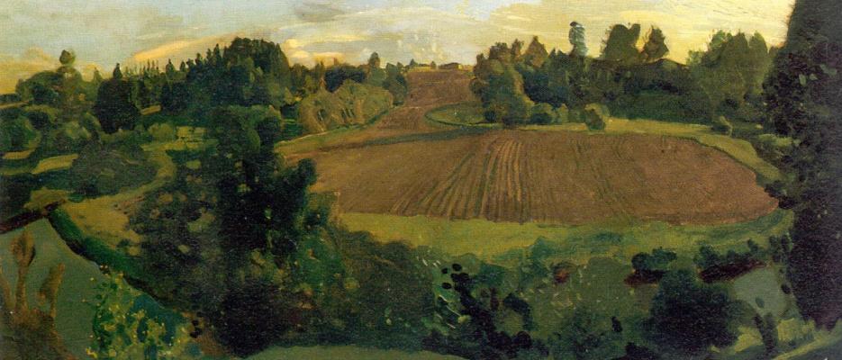 Constantin Somov. Arable land