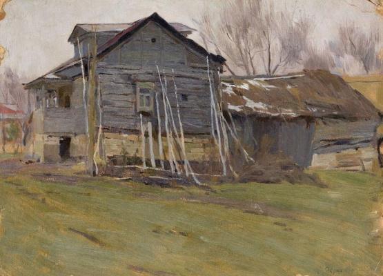 Stanislav Yulianovich Zhukovsky. Village house