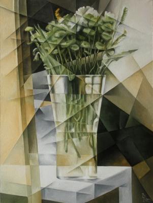 Vasily Krotkov. Bouquet. Kubofuturizm