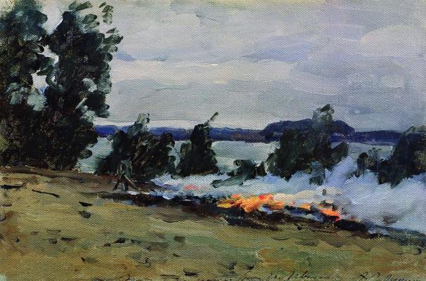 Isaac Levitan. Fires