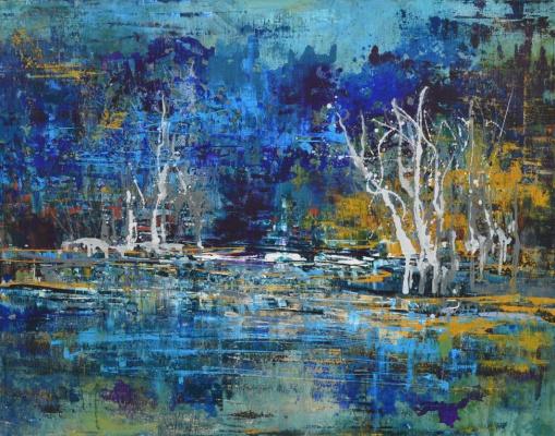 "Tanya Vasilenko. ""Visualization"", acrylic on canvas. Visualization. Acrylic on canvas."