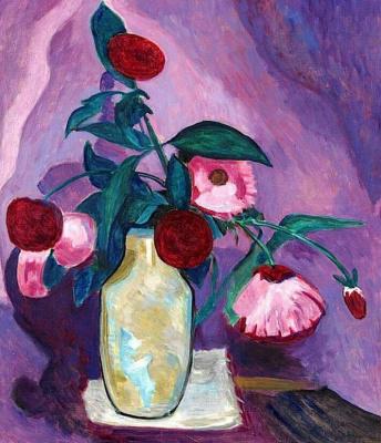 Gabriele Münter. Pink flowers