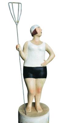 Natalia Gennadievna Bodrikova. Girl with a paddle