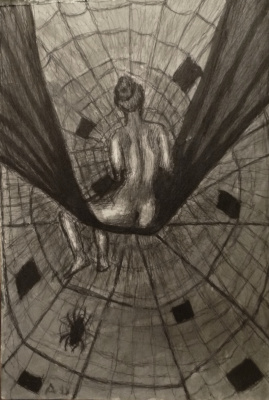 Andrey Victorovich Schekutev. FEMALE SPIDER.A3 paper pen pen Touche