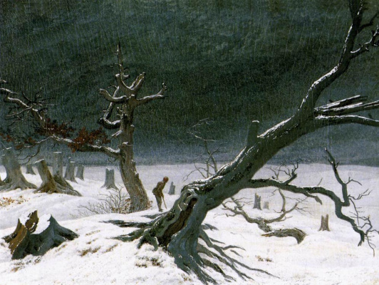 Caspar David Friedrich. Winter landscape