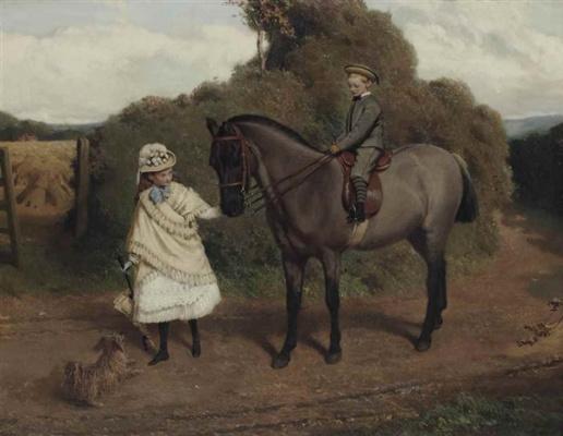 Charles Burton Barber. Wandeler, Brightsmith sister