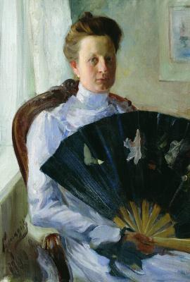 Boris Mikhailovich Kustodiev. Portrait of A. N. Protasova