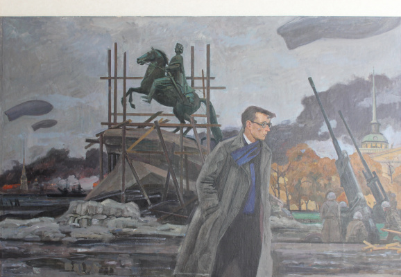 Евгений Александрович Казанцев. Д.Д. Шостакович. Ленинград. 1941 год.