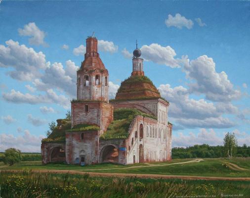 Alexander Vasilyevich Zoryukov. Assumption Cathedral in Mosalsky district