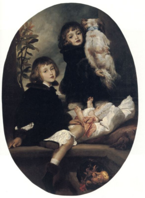 Frederic Leighton. Portrait of Ida, Adrian and Frederick Marreyat