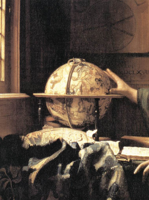 Jan Vermeer. Astronomer. Fragment
