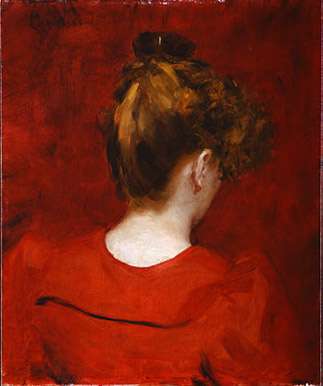 Carolus-Durand. The girl in the red