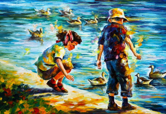 Leonid Afremov. Children