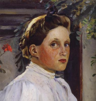 Mikhail Vasilyevich Nesterov. Portrait Of Tatiana Nikolaevna Ashwill