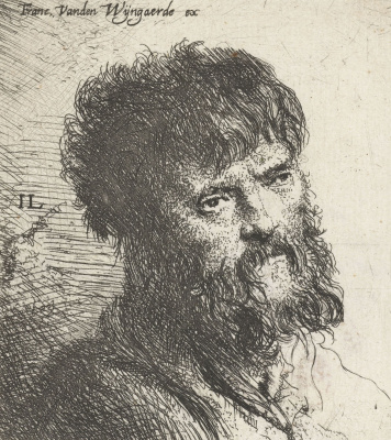 Jan Livens. Portrait of a bearded man