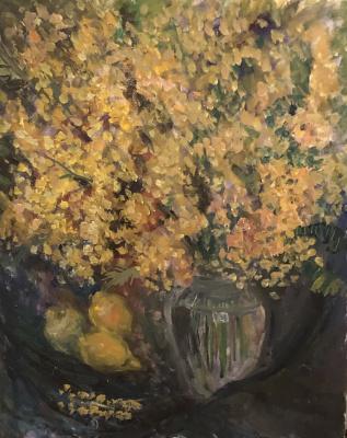 Victoria Malshakova. Mimosa and lemons