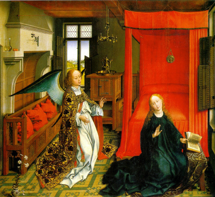 Rogier van der Weyden. Triptych Of The Annunciation. Fragment
