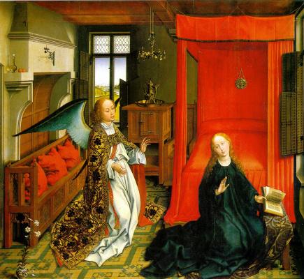 Rogier van der Weyden. Triptych Of The Annunciation. Fragment