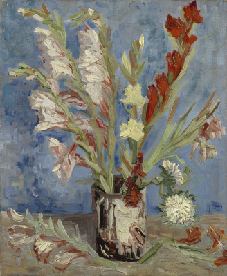 Vincent van Gogh. Vase with gladioli and Chinese asters