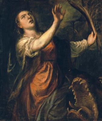 Тициан Вечеллио. Святая Маргарита и дракон