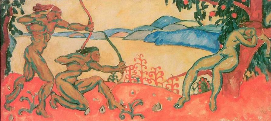 Amshey Markovic Nuremberg. Hunting. Antique motive.