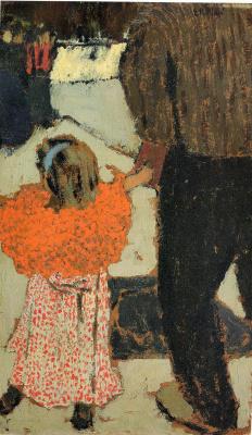 Jean Edouard Vuillard. Child with red scarf