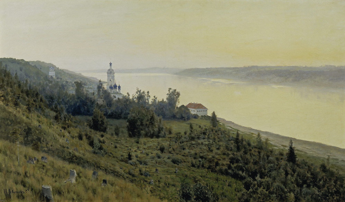Isaac Levitan. Evening. Golden Plyos