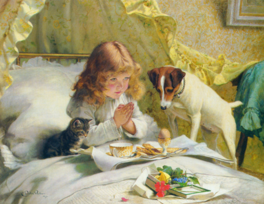 Charles Burton Barber. Prayer before Breakfast