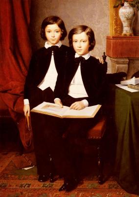 Огюст Жан Батист Лелоир. Портрет двух мальчиков