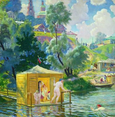 Boris Mikhailovich Kustodiev. Bathing