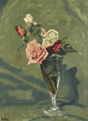 Winston Churchill. Study of roses
