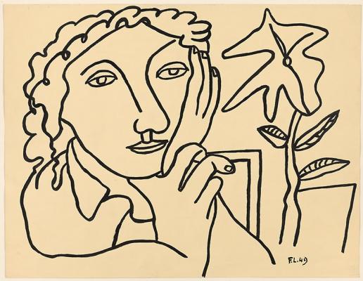 Фернан Леже. Лицо и цветок