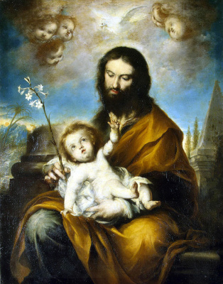 Клементе де Торрес. Святой Иосиф с ребенком Христом