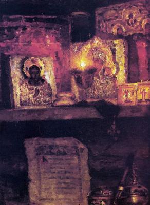 Vasily Ivanovich Surikov. Menshikov in Berezov. Fragment