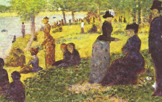 Georges Seurat. Sunday walk on the island of La Grande Jatte