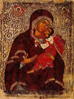Алексей Украинский  мастер. Богородица с Младенцем