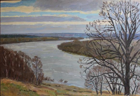 Eugene Alexandrovich Kazantsev. Spring water. on the Oka.