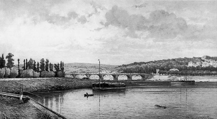 Йохан Грейв. Вид на Сену в Сен-Жермене