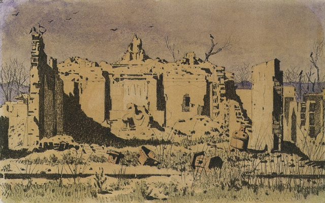 Vasily Vereshchagin. Temple ruins in Chuguchak